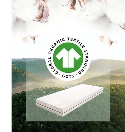 GOTS keurmerk - 100% ecologische katoenen matrashoes